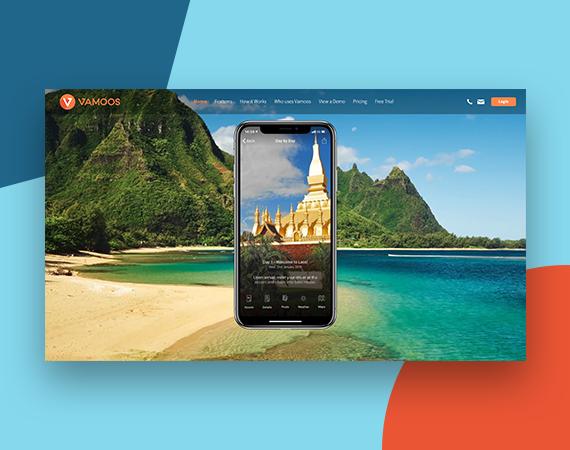 Vamoos website design