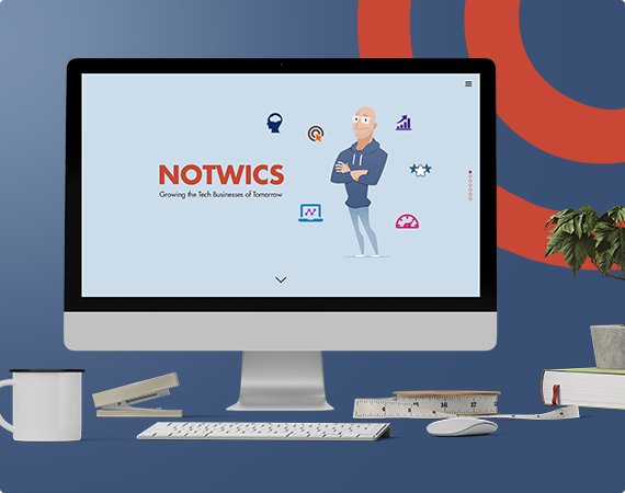 NOTWICS website design